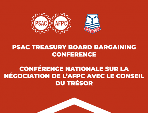 PSAC Treasury Board bargaining conference – UCTE members stand out